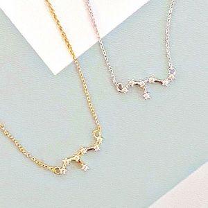 2 Leo Star Zodiac 18k White/Yellow GP Necklaces